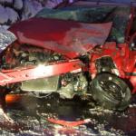 Unfall auf der Umfahrungsstraße A28 in Landquart (Polizeifoto: Kapo Graubünden)