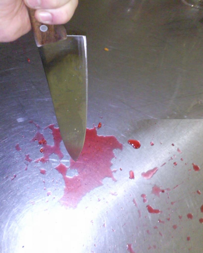 Blutige Gewalt in der Küche im Asylzentrum (Durchgangszentrum) Rheinkrone in Cazis