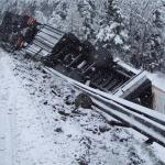 Polizeifoto Unfall A13 Hinterrhein