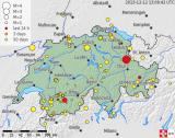 Das Epizentrum des Erdbebens vom 12. Dezember 2013 ist in Sargans (Graphik: Schweizerischer Erdbebendienst)