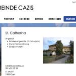 Die CVP Fraktion traf sich in hier in der St. Catharina Schule in Cazis.
