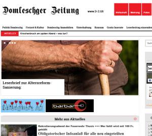 Beispiel für eine Internet-Lokalzeitung für das Domleschg: Domleschger-Zeitung.ch