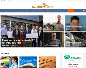 Beispiel für eine Internetzeitung im Bernina-Puschlav-Gebiet: Il Bernina