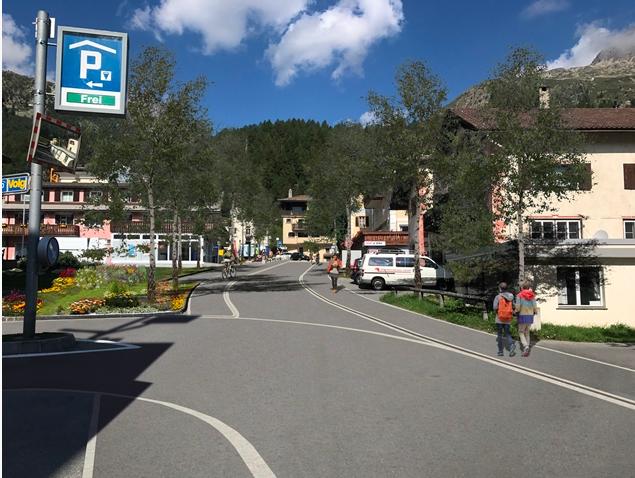 Silvaplana Gestaltung Straßen